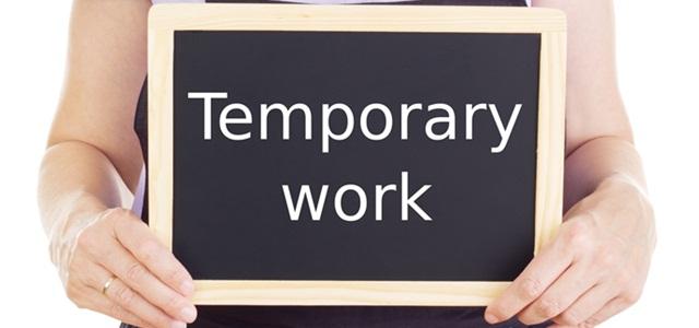 placa de trabalho temporário