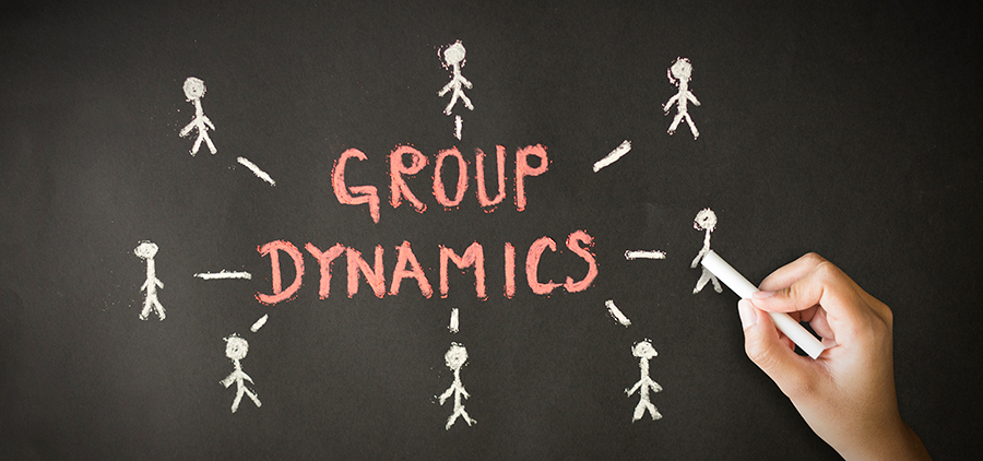 placa escrito dinâmica de grupo