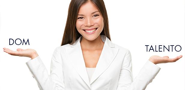 Mulher mostrando a diferença entre dom e Talento