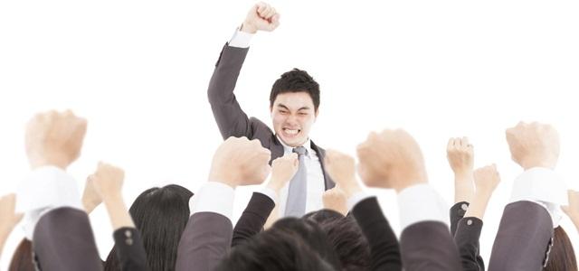 líder motivando equipe