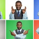 Profissional participando da dinâmica das cores mostrando vários sentimentos