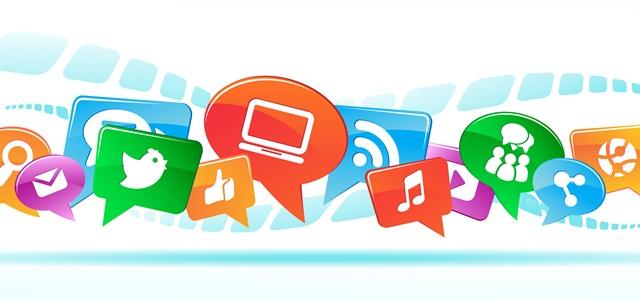 símbolos de diversas redes sociais