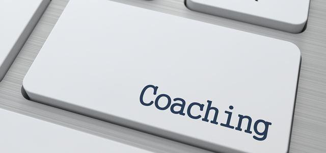 botão com a palavra coaching
