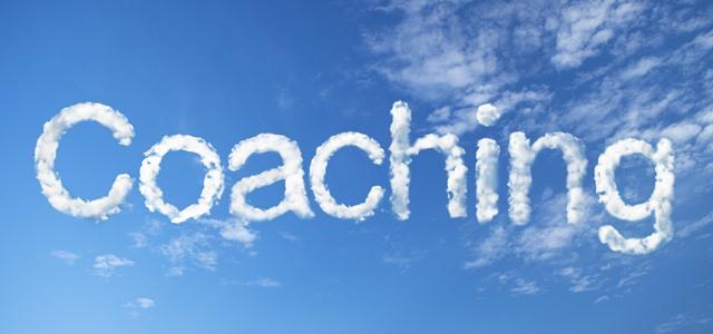 palavra coaching escrita no céu