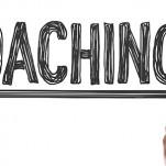 Palavra Coaching escrita à mão