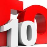 Letreiro escrito Top 10