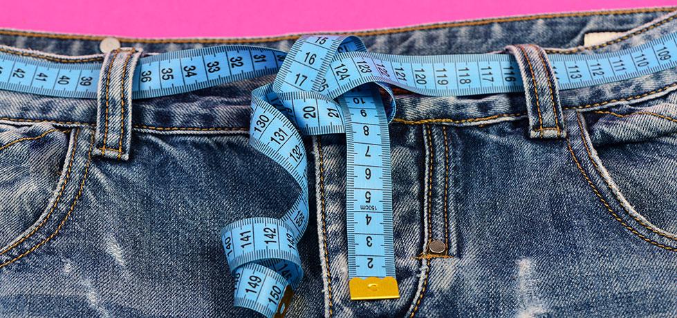 Fita métrica ilustrando como ter mais disciplina para emagrecer é importante