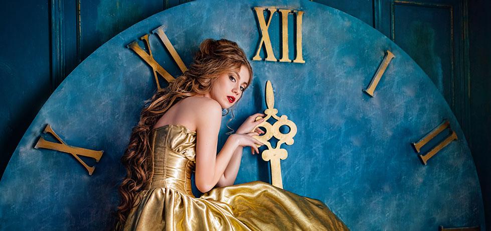 Princesa mostrando seu complexo de cincerela