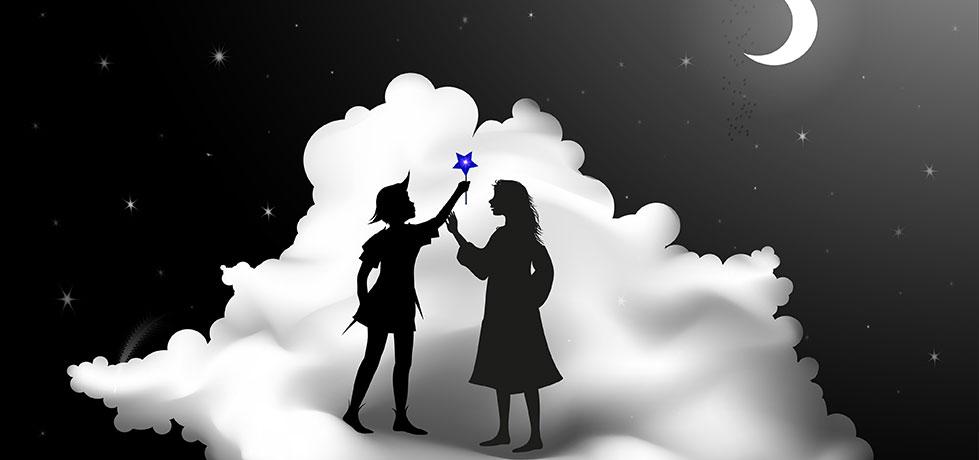 Ilustração de Peter Pan e Wendy e do Complexo de Wendy