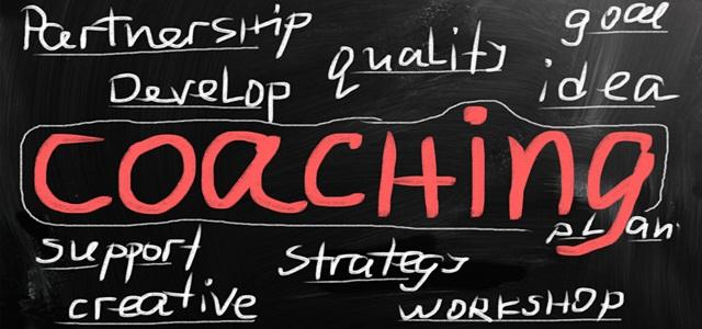 lousa com conceito de coaching