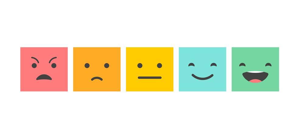 Blocos representando emoções