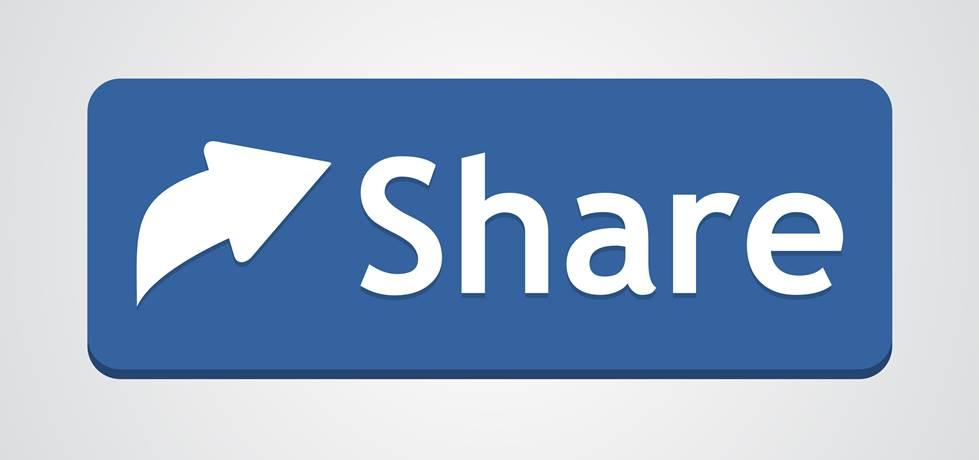 Compartilhamento de botão azul
